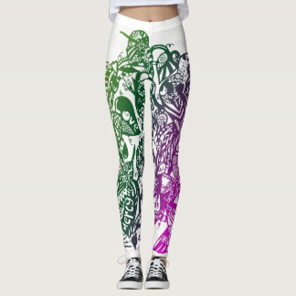 Faith-Inspired Colorful Hummingbird Leggings