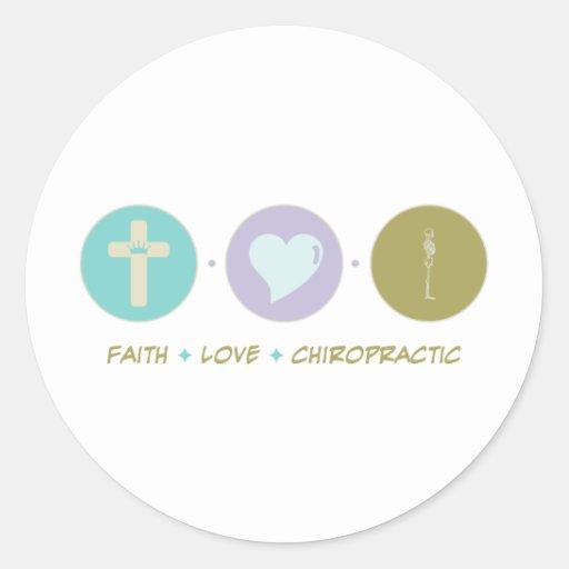 Faith Love Chiropractic Round Stickers
