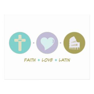 Faith Love Latin Post Card