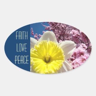 FAITH LOVE PEACE stickers Spring Flowers