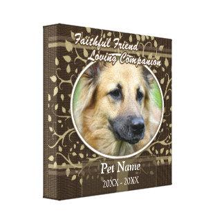 Faithful Friend Custom Pet Sympathy Stretched Canvas Print