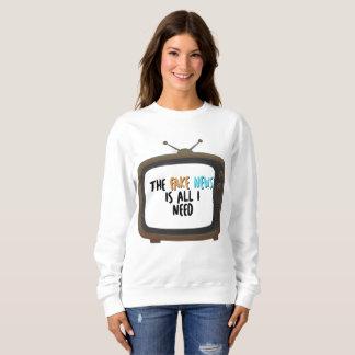 Fake News Political Protest Women's Sweatshirt