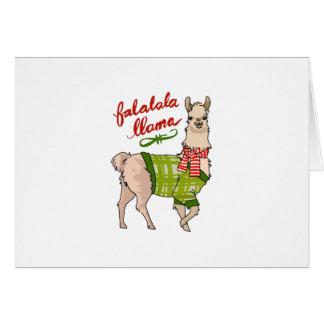 Falalala Llama Card