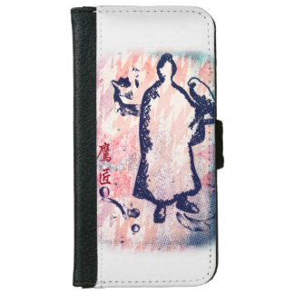 Falconer Lord Takagari Samurai Pink Hue Watercolor iPhone 6 Wallet Case