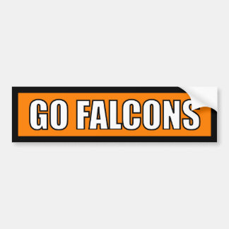 Falcons - Black Orange White Bumper Stickers