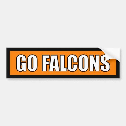 Falcons - Black Orange White Bumper Stickers