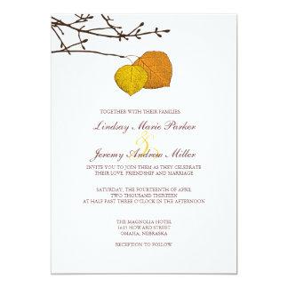 Fall Aspen Pair Wedding Invitation