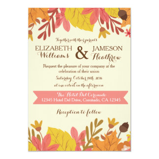 Fall Autumn Floral Wedding Invitation