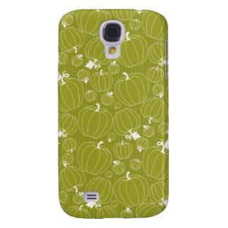 Fall Autumn Green Pumpkin Pattern Design Galaxy S4 Case