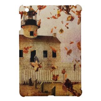 Fall Autumn leaves Western Country Church Chapel iPad Mini Covers