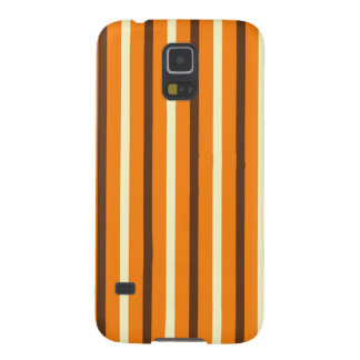 Fall Autumn Orange Brown Cream Striped Pattern Galaxy Nexus Case