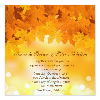 Fall Autumn Wedding Invitation