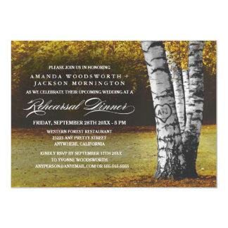 Fall Birch Tree Rehearsal Dinner Invitations