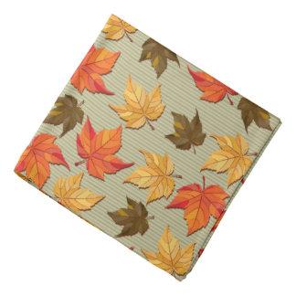 Fall Color Leafs Pattern Bandana