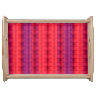 Fall Colors Ombre Stripe Serving Tray