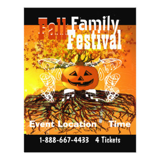 Fall  Family Festival Halloween Fall Event Flyer