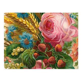 """Fall Flower Harvest"" Vintage Postcard"