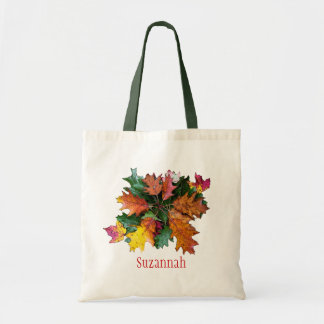 Fall Foliage Personalized Tote Bag