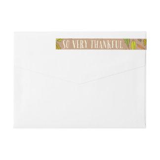 Fall Foliage Thankful Envelope Wrap Address Labels Wraparound Return Address Label