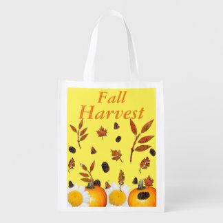 Fall Harvest Reusable Grocery Bag