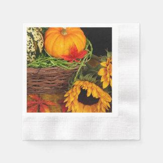 Fall Harvest Sunflowers Disposable Napkins