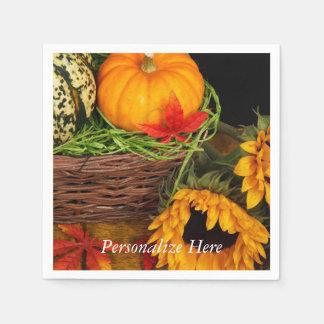 Fall Harvest Sunflowers Paper Napkins