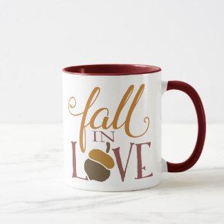 Fall in Love   Autumn Acorn Mug