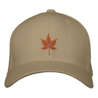 Fall Leaf Embroidered Hats