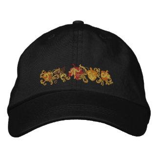 Fall Leaf Filigree Embroidered Hat