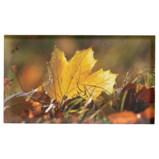 Fall Leaf Table Card Holder