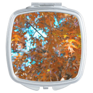 Fall Leaves Compact Mirror
