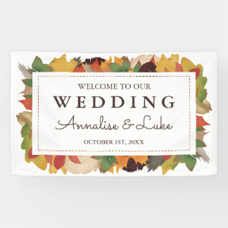 Fall Leaves & Feathers | Welcome to Our Wedding