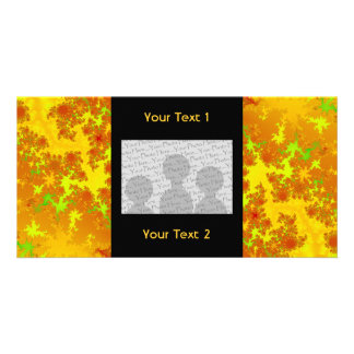 Fall Leaves Fractal. Abstract Art. Photo Greeting Card