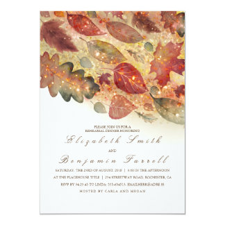 Fall Leaves Rehearsal Dinner Card