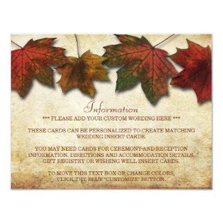 Fall Leaves Wedding Insert Card