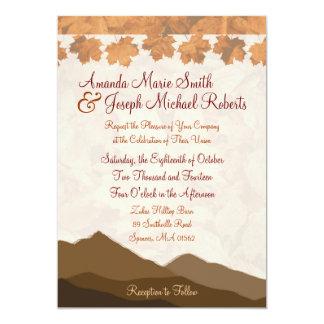 Fall Mountain Wedding Invitation