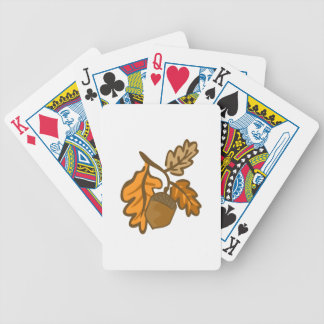 Fall Oak Leaves Acorn Bicycle Playing Cards