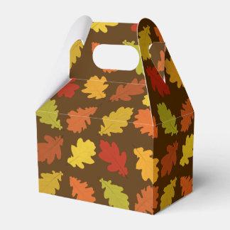 Fall Oak Leaves Pattern Favor Box