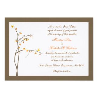 Fall or Autumn Wedding Invitation