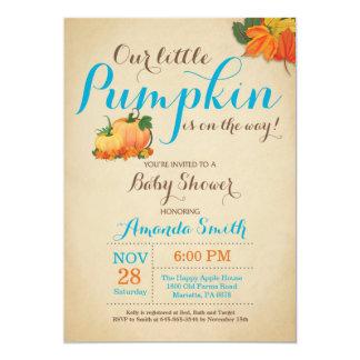 Fall Pumpkin Boy Baby Shower Invitation
