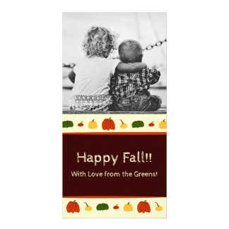 Fall Pumpkins: Customized Photocard #1 Photo Greeting Card