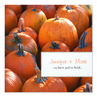 Fall Pumpkins Save The Date Card