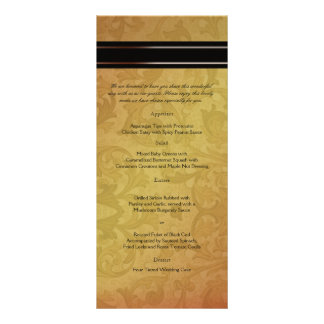 Fall Regency Wedding Menu