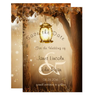 Fall Rustic Autumn Tree Wedding - Save The Date Card