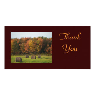 Fall Scene Thank You Photocard Photo Card Template