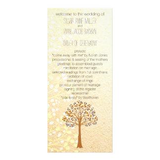 fall tree, Rustic Wedding programs Personalized Rack Card
