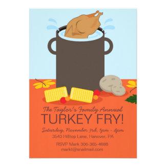 Fall Turkey Fry Party Invitation