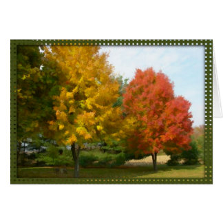 Fall Watercolor Note Card