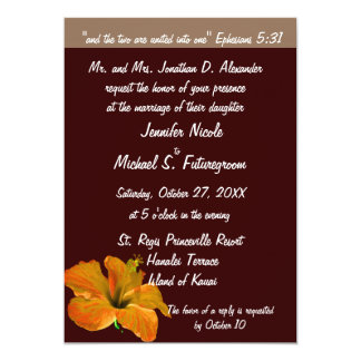Fall Wedding Autumn Colors : Two Become One 13 Cm X 18 Cm Invitation Card