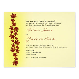 Fall Wedding Invitation - Autumn Leaves